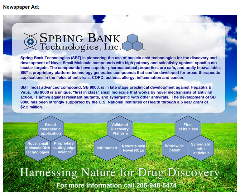Spring Bank Newspaper Ad